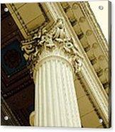 Classic Column Acrylic Print by Cathie Tyler