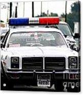 Classic Cop Car Acrylic Print