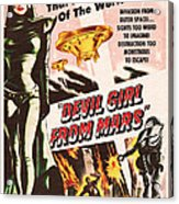 Classic Devil Girl From Mars Poster Acrylic Print