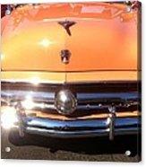 Classic Ford Car Hood Peach Acrylic Print