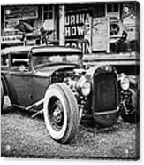 Classic Hot Rod In Black And White Acrylic Print