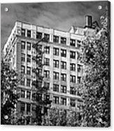 Classic Iron Fire Escape Chicago Il Acrylic Print by Christine Till