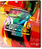 Classic Mini Cooper Acrylic Print