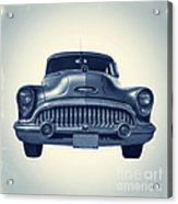 Classic Old Car On Vintage Background Acrylic Print