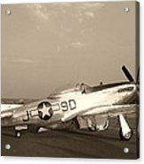 Classic P-51 Mustang Fighter Plane Acrylic Print
