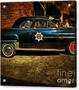 Classic Police Car Acrylic Print