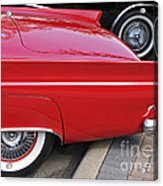 Classic Red And Black Acrylic Print