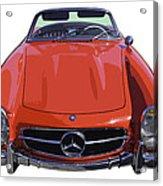 Classic Red Mercedes Benz 300 Sl Convertible Sportscar  Acrylic Print