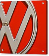 Classic Red Vw Acrylic Print