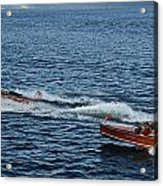 Classic Runabouts At Dusk Acrylic Print
