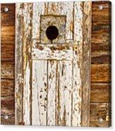 Classic Rustic Rural Worn Old Barn Door Acrylic Print
