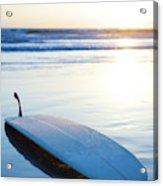Classic Single-fin Long Board Surfboard Acrylic Print