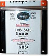 Classic Vintage Gilbarco Phillips 66 Gas Pump Dsc02751 Acrylic Print