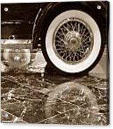 Classic Wheels Sepia Acrylic Print
