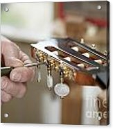 Classical Guitar Maker Acrylic Print
