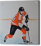 Claude Giroux Philadelphia Flyer Acrylic Print by Joanne Grant