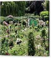 Claude Mounets Green Garden Gate Acrylic Print