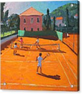 Clay Court Tennis Acrylic Print