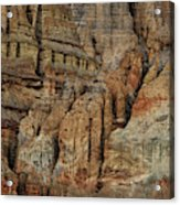 Clay Mountain Formations In Front Acrylic Print