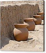Clay Pots At Huaca Pucllana In Lima Peru Acrylic Print