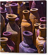 Clay Vases Acrylic Print by Garry Gay