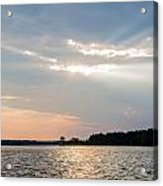 Clayton Lake Sunset Acrylic Print