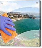 Cleaning Windows Acrylic Print
