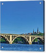 Clear Blue Skies At Key Bridge Acrylic Print