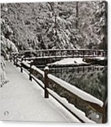 Clear Creek Winter Acrylic Print