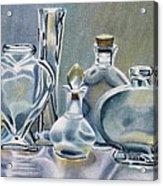 Clear Glass Bottles Acrylic Print