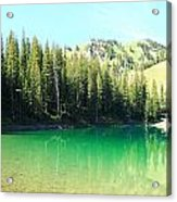 Clear Green Water Acrylic Print