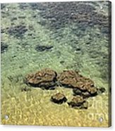 Clear Indian Ocean Water With Rocks At Galle Sri Lanka Acrylic Print