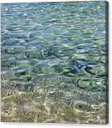 Clear Water And Pebbles Acrylic Print