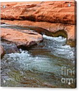 Clear Water At Slide Rock Acrylic Print by Carol Groenen