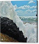 Clear Water Splash Buxton Jetty 1 6/06 Acrylic Print