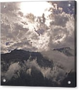 Clearing Clark's Fork Storm Acrylic Print