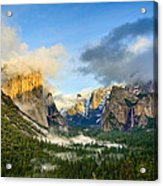 Clearing Storm - Yosemite National Park From Tunnel View. Acrylic Print
