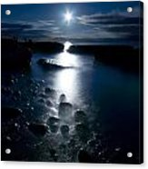 Clearville Moonrise Acrylic Print