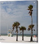 Clearwater Beach In Wintertime Acrylic Print