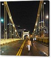 Clemente Bridge Stragglers Acrylic Print