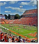 Clemson Tiger Band Memorial Stadium Acrylic Print