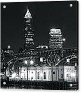 Cleveland Black Night Acrylic Print