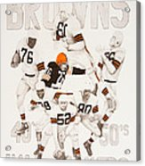 Cleveland Browns 40's To 50's Hall Of Famers Acrylic Print by Joe Lisowski