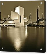 Cleveland In Sepia Acrylic Print