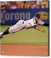 Cleveland Indians V Los Angeles Angels Acrylic Print
