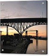 Cleveland Ohio Flats At Sunset Acrylic Print