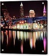 Cleveland Panoramic Reflection Acrylic Print