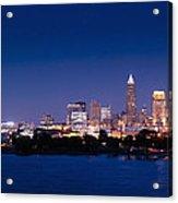 Cleveland Skyline Dusk Acrylic Print