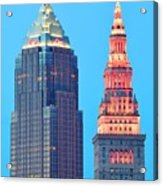 Clevelands Iconic Towers Acrylic Print