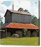 Clewis Family Tobacco Barn Acrylic Print